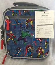 "Pottery Barn Kids Marvel Blue Classic Lunch Bag ""Jonathan"" NWT NLA"