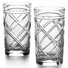 Ralph Lauren Brogan Classic Highball Glasses Lead Crystal NEW IN BOX