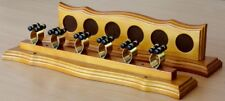 POOL SNOOKER BILLIARD CUE RACK STAND Pool Table OAK and Brass Cue Clips