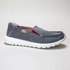 Zapatos planos de mujer mocasines color principal gris de lona