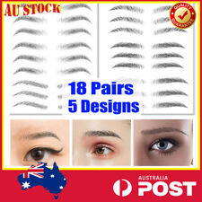 18-Pairs Eyebrow Tattoo Sticker 5-Designs Simulated Ecological Waterproof Makeup