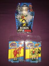 DC COMICS ROBIN & FLASH & More SUPER POWERS MICRO FIGURES Lot Of 3