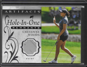 2021 UD Artifacts LPGA Golf Cheyenne Woods Hole In One Worn Shirt Relic Patch