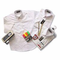 Kids Boys School Uniform White Shirt Short/long sleeve