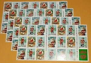 Four x 20 = 80 Of CHRISTMAS SANTA & CHILDREN 32¢ US PS Stamps. Sc # 3008-3011