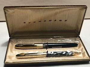 Vintage Eversharp Gold & Green Boxed Fountain Pen & Pencil Set