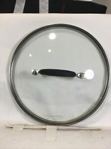 """Cuisinart Stainless Steel and Glass Replacement Lid 10"""" Outside Diameter"""