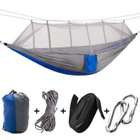 Outdoor Travel Camping Hanging Hammock Bed with Mosquito Net for Two Person