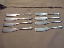 Lot of 8 - REED & BARTON STERLING SILVER FLATWARE Butter Knives