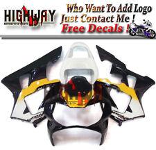 ABS Injection Fairing Kit For Honda CBR900RR CBR929RR 00-01 Black Yellow White V