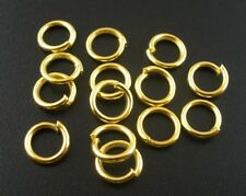 100 x 8mm Extra Strong Jump Rings Gold Plated 1.2mm Thick - Crafts - ESGPJR8-100