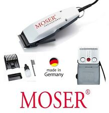 Moser New Edition 1400 Haarschneider weiss + 6 Aufsätze extra. Made in BRD 42736