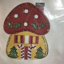 Vintage Bucilla Christmas Needlecraft Kit 1899 Mushroom House Light Switch Cover