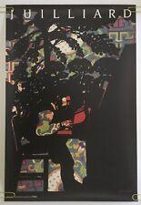 Milton Glaser Vintage Original Poster Julliard Piano Man Music School NYC 1987