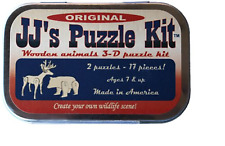 JJs Puzzle Kit, Original, Two 3-d Wooden Animals by Channel Craft - Channel Craf
