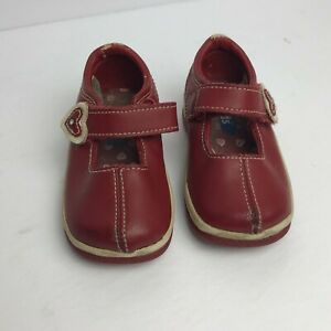 KEDS  MARY JANES RED LEATHER SNEAKERS SHOES TODDLER/GIRLS SIZE 4.5M