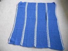 Handmade Crochet afghan blue white