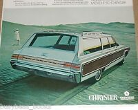 1968 CHRYSLER advertisement, Chrysler Town & Country Station Wagon