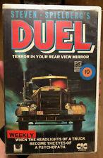 DUEL VHS Tape Steven Spielberg Cult Horror movie ex Rental