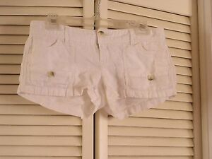 American Eagle Outfitters White Linen Shorts Short Pants Women's Size 0 NICE!