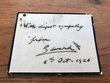 More details for original sympathy card from edward v111 ( personal writing & signed ) 1926