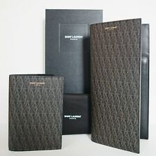 SAINT LAURENT YSL Classic Toile MONOGRAM Travel Business Wallet +Passport Holder