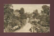 Devon LUSTLEIGH Village scene and locals c1900/10s? PPC by Frith