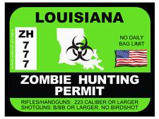 Louisiana Zombie Hunting Permit (Bumper Sticker)