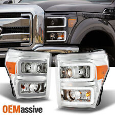 2011-2016 Ford F250/350/450/550 Super Duty LED Tube Projector Headlights Lamps