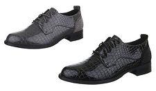 Markenlose Damen-Schnürschuhe aus Kunstleder