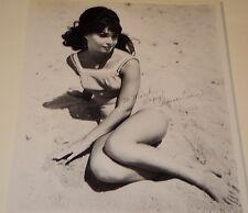 """DONNA LOREN / 60'S SWIMSUIT /   8 1/2  X 11""""  B&W  AUTOGRAPHED  PHOTO"""