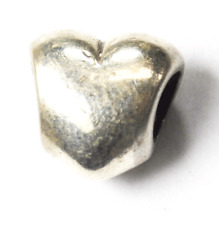 Sterling Silver Pandora Puffy Smooth Heart Charm 790137
