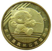 (b83) - china-yuan 1 2008-Olympics esgrima diferenciadas-UNC-km # 1811