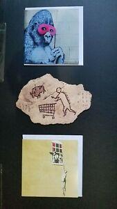 Banksy Peckham Rock Postcard + Glitter Gorilla Well Hung Man cards Bristol GDP