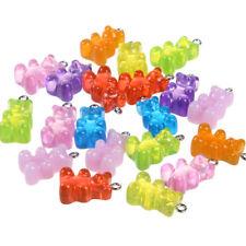 10pcs miniature dollhouse little Fruit Loops Mix Color pendant charms 8mm