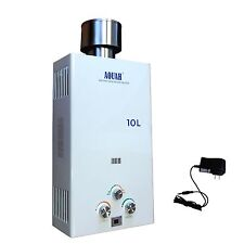 AQUAH 10L (2.7 GPM) OUTDOOR NATURAL GAS TANKLESS GAS WATER HEATER WHOLE HOUSE