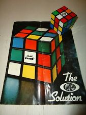 Rubik's Cube The Ideal Solution Book AND ORIGINAL RUBIKS CUBE PUZZLE!