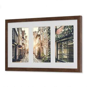 Galerierahmen 25x50 Passepartout für3 10x15 13x18 Bilderrahmen Kunststoffrahmen