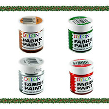 Dylon Fabric Paint Set - Christmas - 4 x 25ml Pots (22, 15, 23, 6)