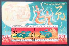 1999 Christmas Island Stamps - Lunar New Year-Year of Rabbit Mini Sheet MNH