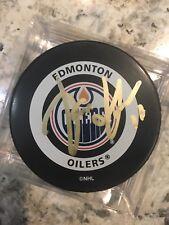 SIGNED OFFICIAL NHL GAME PUCK EDMONTON OILERS JARI KURRI NHL2000 HOF TOP 100