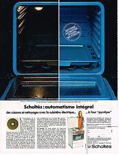 PUBLICITE  1971   SCHOLTES   cuisinière