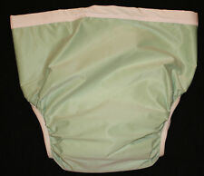 New 3 Adult Fitted Twill Brief Diaper XXL Snap Washable Reusable Incontinence