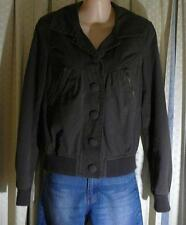 LADIES JUST JEANS FULLY LINED DARK GREY BOMBERS JACKET, SIZE 10, COAT