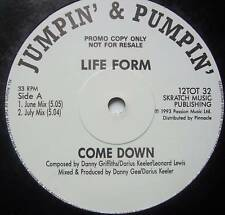 "LIFE FORM Come Down / Summers Child ~ 12"" Single PROMO"