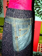 CHRISTIAN LACROIX JUPE SKIRT  HOLSTER   BIMATIERE TRICOT LEGER JEAN 34/36