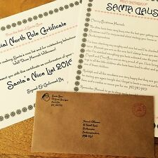 "Personalised Vintage Christmas Letter From Santa & ""Nice"" List Certificate 2016"