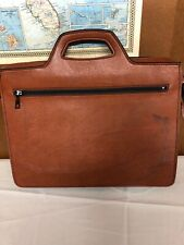 Vintage Briefcase Carry Bag Simulated Leather