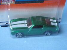 MATCHBOX 1971 Chevy Camaro Z-28 Green corpo classico giocattolo muscolare USA auto modello 70 mm