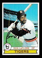 1979 Topps Baseball Ron LeFlore Autographed Card - Detroit Tigers TTM - #660